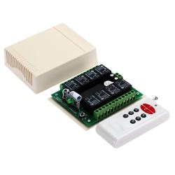 kit radiocomando 8 canali rx+tx controllo remoto wireless