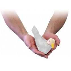 servente per tortora apertura con una mano