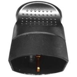 presa volante shuko 16a tonda tedesca nera