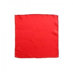foulard 60x60cm rosso, red silk
