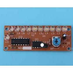 circuito sequenza led effetto scia luminosa