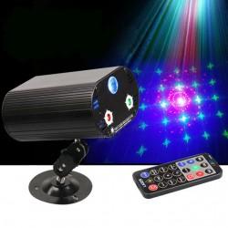 Multieffetto laser più led RGB telecomandato