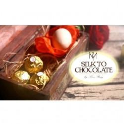 silk to chocolate, foulard in cioccolatino