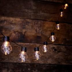 striscia di lampadine da esterno ad energia solare