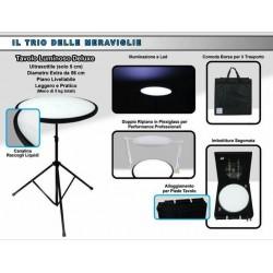 tavolo luminoso professionale con accessori