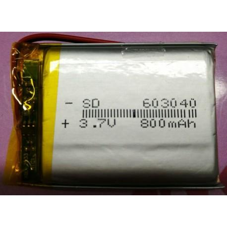 micro batteria al litio ricaricabile 3,7v 70mAh