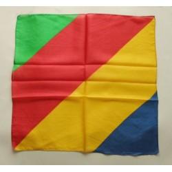 foulard multicolore arcobaleno 45x45
