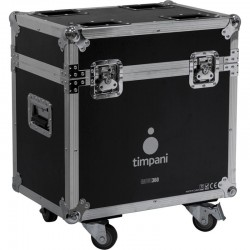 flight case per 2 teste mobili 36x10w zoom