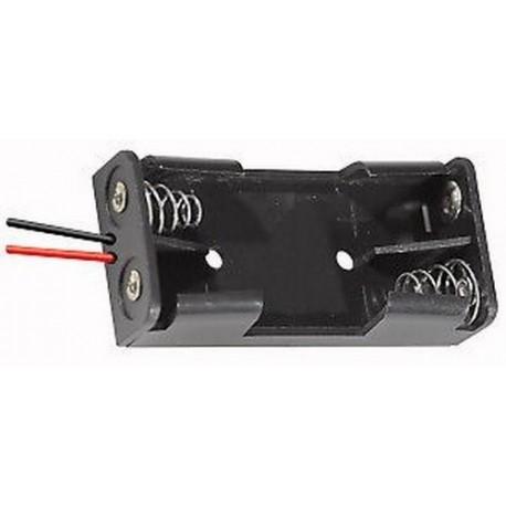 portabatterie 8 stilo AA uscita 12v con fili