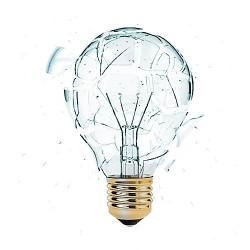 lampadina che esplode