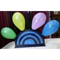 comedy card in balloon, everything in ballon
